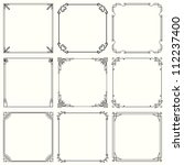 Vector Decorative Frames  Set...