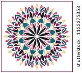 vector mandala. holi party... | Shutterstock .eps vector #1122375353