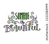 simple is beautiful. colorful... | Shutterstock .eps vector #1122383999