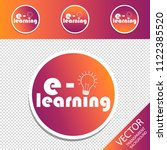 e learning and lightbulb  ...