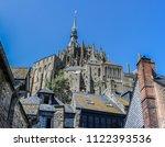 abbey of mont saint michel .... | Shutterstock . vector #1122393536