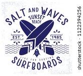 surfer style clothing print... | Shutterstock .eps vector #1122394256