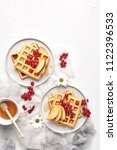 flat lay of traditional belgian ... | Shutterstock . vector #1122396533