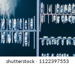 aerial shots of many ships... | Shutterstock . vector #1122397553