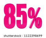 pink 85  percent discount sign  ... | Shutterstock . vector #1122398699