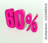 pink 60  percent discount sign  ... | Shutterstock . vector #1122400313