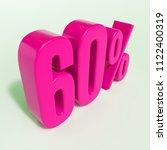 pink 60  percent discount sign  ... | Shutterstock . vector #1122400319