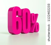 pink 60  percent discount sign  ... | Shutterstock . vector #1122402233