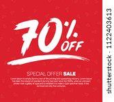 70 percent off 70  discount... | Shutterstock .eps vector #1122403613