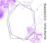 geometric designs watercolor... | Shutterstock . vector #1122403946
