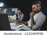 asian businessman team staying... | Shutterstock . vector #1122405950