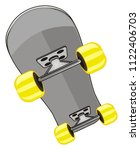 one gray skateboard | Shutterstock . vector #1122406703