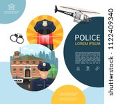flat police composition with... | Shutterstock .eps vector #1122409340