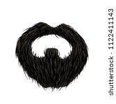 detailed black mustache and... | Shutterstock .eps vector #1122411143