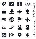 set of vector isolated black... | Shutterstock .eps vector #1122413624