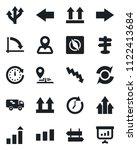 set of vector isolated black... | Shutterstock .eps vector #1122413684