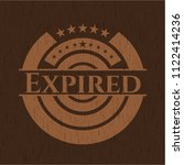 expired badge with wooden... | Shutterstock .eps vector #1122414236