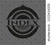 index realistic dark emblem | Shutterstock .eps vector #1122414320
