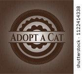 adopt a cat wood emblem | Shutterstock .eps vector #1122414338