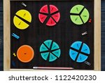 colorful fractions in... | Shutterstock . vector #1122420230