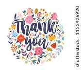 thank you vector greeting card... | Shutterstock .eps vector #1122426920
