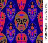 vector illustration. tribal... | Shutterstock .eps vector #1122427448
