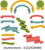 vector ribbons and labels | Shutterstock .eps vector #1122428480