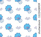 cute hand drawn endless doodle... | Shutterstock .eps vector #1122428939