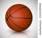 basketball ball isolated on a... | Shutterstock .eps vector #1122433343