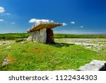 poulnabrone dolmen  a neolithic ...   Shutterstock . vector #1122434303