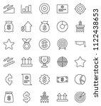 thin line vector icon set  ... | Shutterstock .eps vector #1122438653