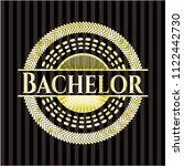 bachelor gold badge | Shutterstock .eps vector #1122442730