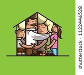 family huging concept vector...   Shutterstock .eps vector #1122446528