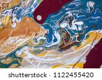 color flow from washing in the...   Shutterstock . vector #1122455420
