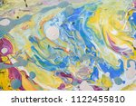 color flow from washing in the...   Shutterstock . vector #1122455810
