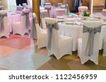 wedding chair with ribbon  gray ... | Shutterstock . vector #1122456959