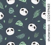 vector seamless baby pattern... | Shutterstock .eps vector #1122459683