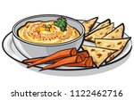 illustration on eastern dish... | Shutterstock . vector #1122462716