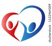 abstract people love heart logo    Shutterstock .eps vector #1122464309