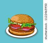 burger vector or illustration | Shutterstock .eps vector #1122465950