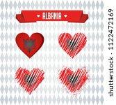 albania with love. design... | Shutterstock .eps vector #1122472169
