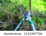 loppers for cutting wooden logs ... | Shutterstock . vector #1122487736