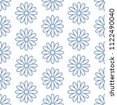 floral seamless pattern with... | Shutterstock .eps vector #1122490040