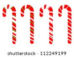 set of isolated candy canes on... | Shutterstock .eps vector #112249199