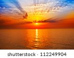 Stock photo sunrise in the sea 112249904