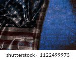 usa flag vintage background | Shutterstock . vector #1122499973