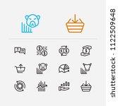 trading icons set. chip stocks...