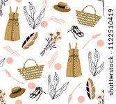 provence summer seamless... | Shutterstock .eps vector #1122510419
