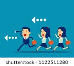leader with employee working... | Shutterstock .eps vector #1122511280