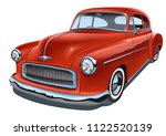 vintage realistic classic car.... | Shutterstock .eps vector #1122520139